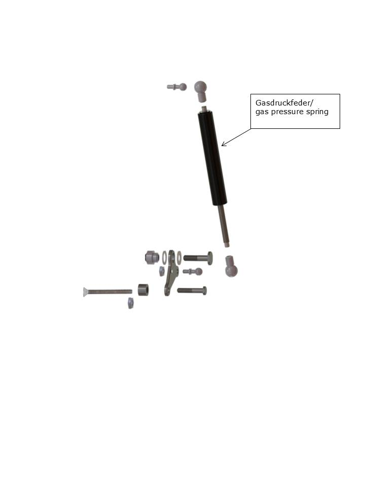 Gasdruckfeder 4/12 für das Mono Support