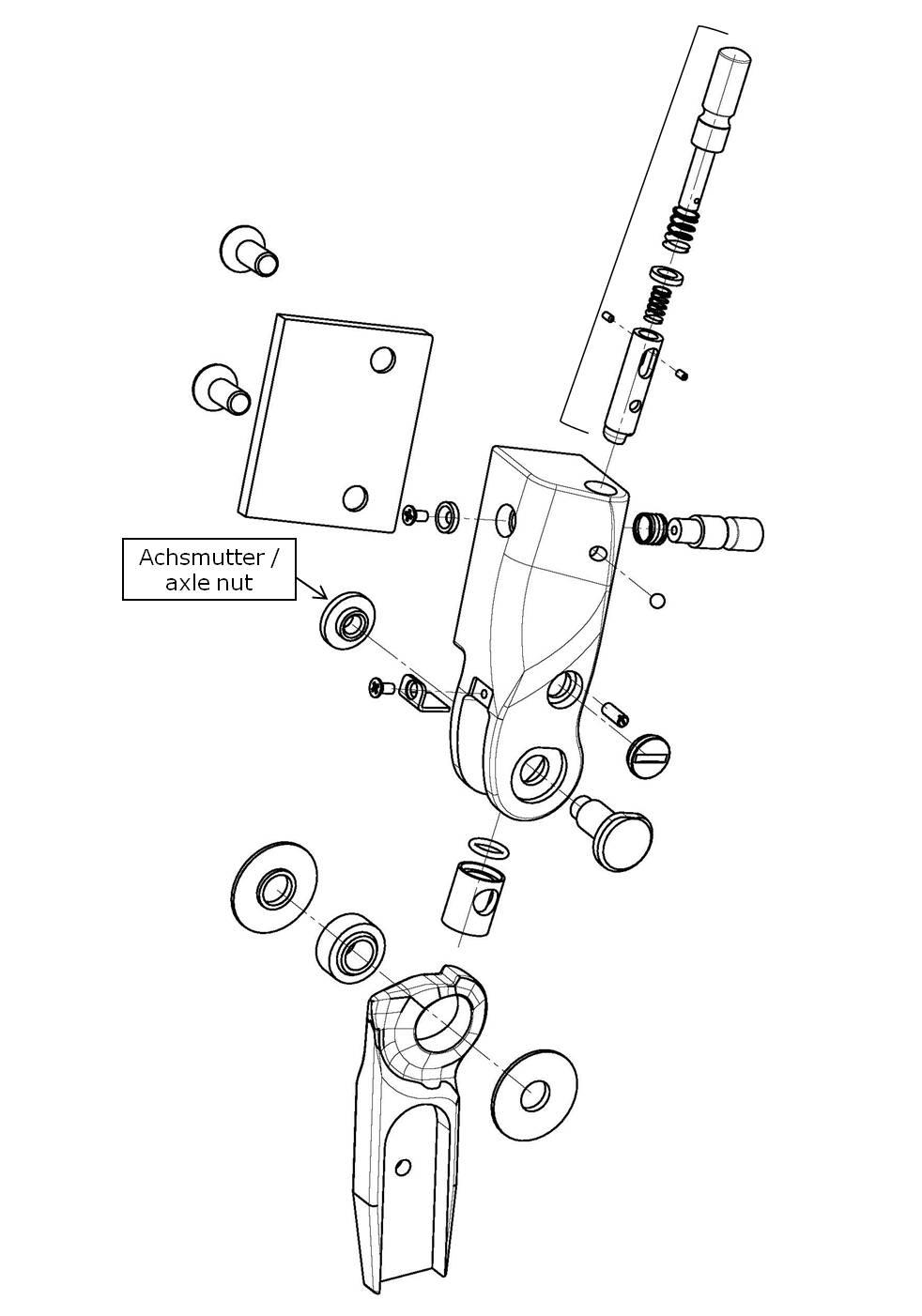 Achsmutter für das Salera preselect 3-D Hüftgelenk