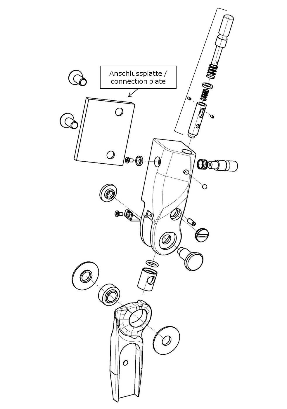 Anschlussplatte für das Salera preselect 3-D Hüftgelenk