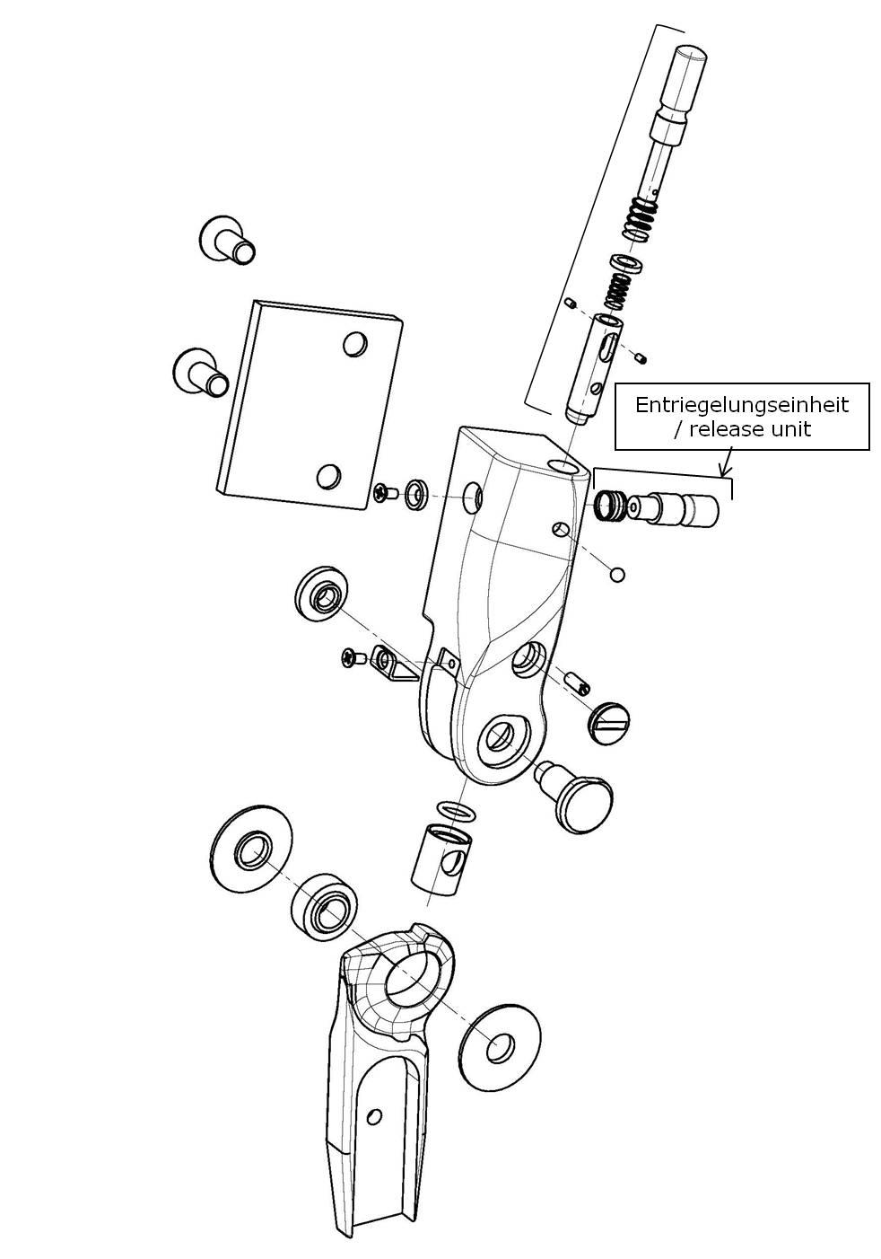 Entriegelungseinheit für das Salera preselect 3-D Hüftgelenk