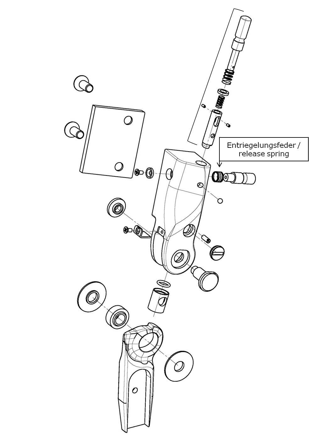 Entriegelungsfeder für das Salera preselect 3-D Hüftgelenk