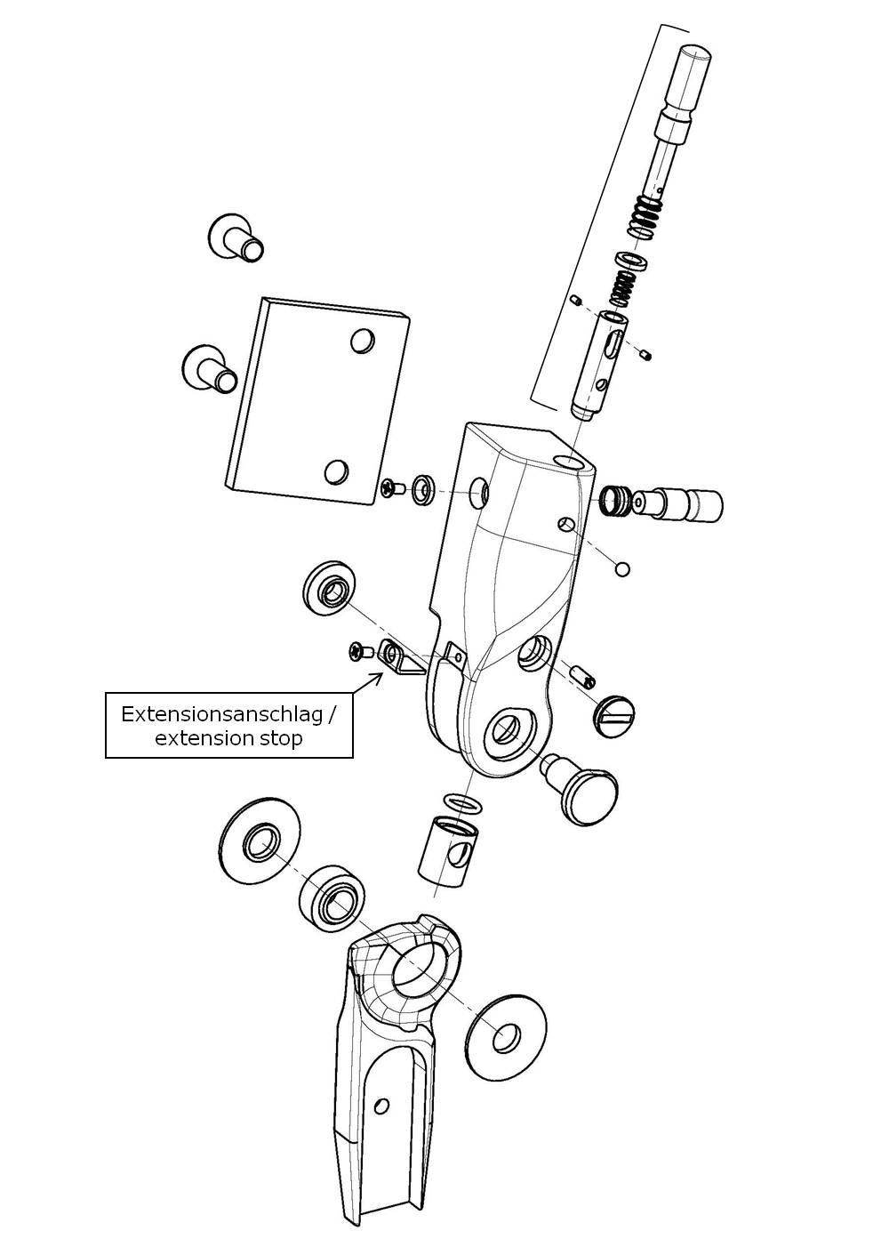 Extensionsanschlag für das Salera preselect 3-D Hüftgelenk