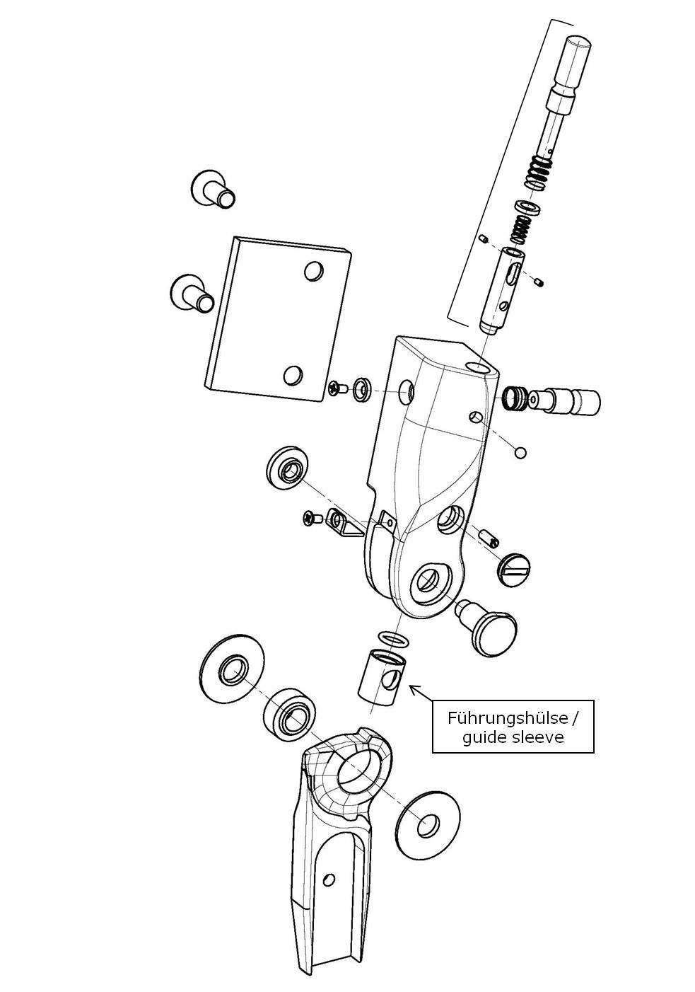 Führungshülse für das Salera preselect 3-D Hüftgelenk