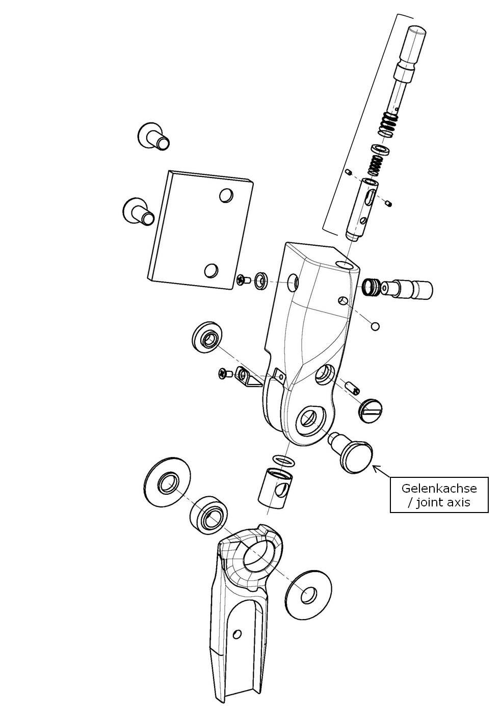 Gelenkachse für das Salera preselect 3-D Hüftgelenk