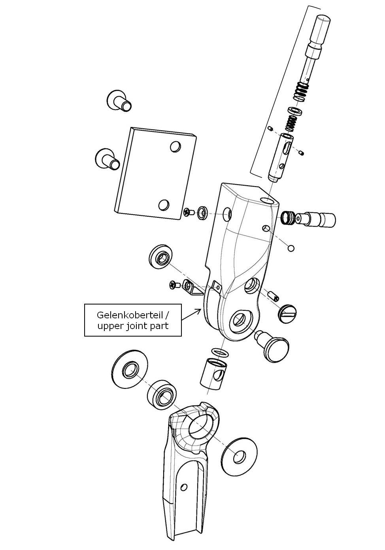 Gelenkoberteil für das Salera preselect 3-D Hüftgelenk