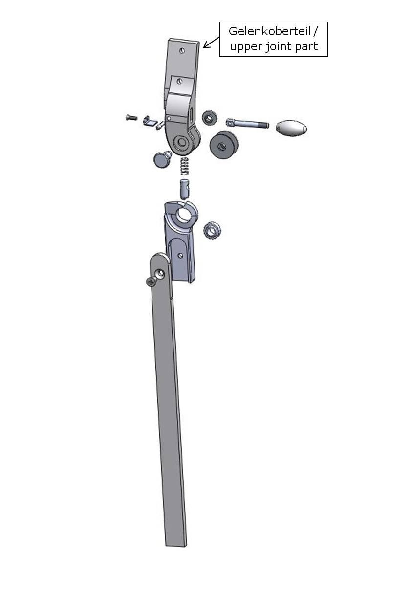 Gelenkoberteil für das Salera 3-D Hüftgelenk