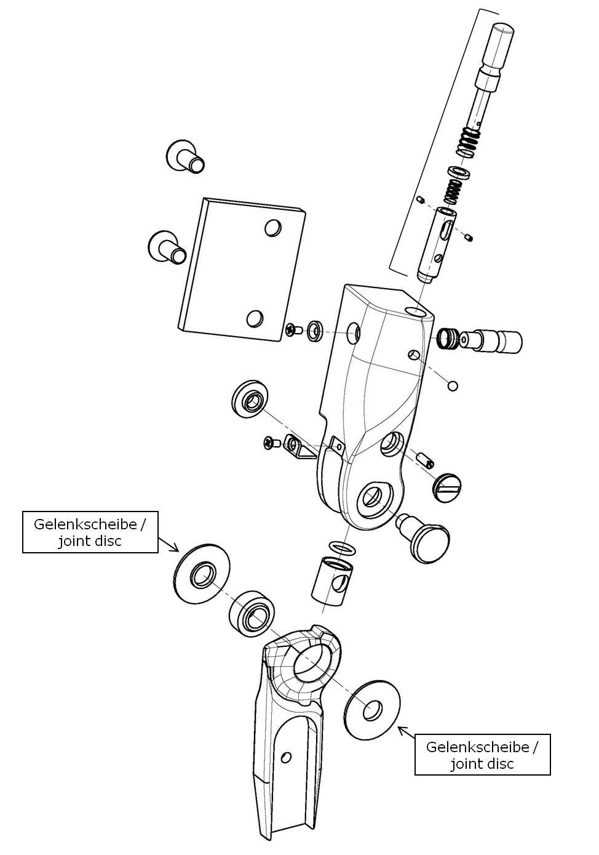 Gelenkscheiben für das Salera preselect 3-D Hüftgelenk
