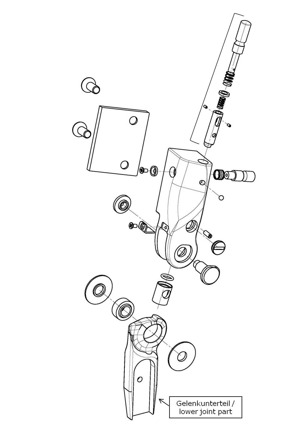 Gelenkunterteil für das Salera preselect 3-D Hüftgelenk