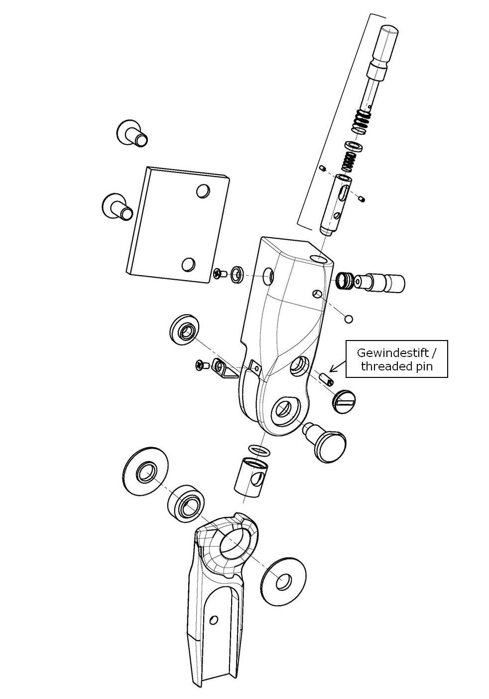 Gewindestift für das Salera preselect 3-D Hüftgelenk
