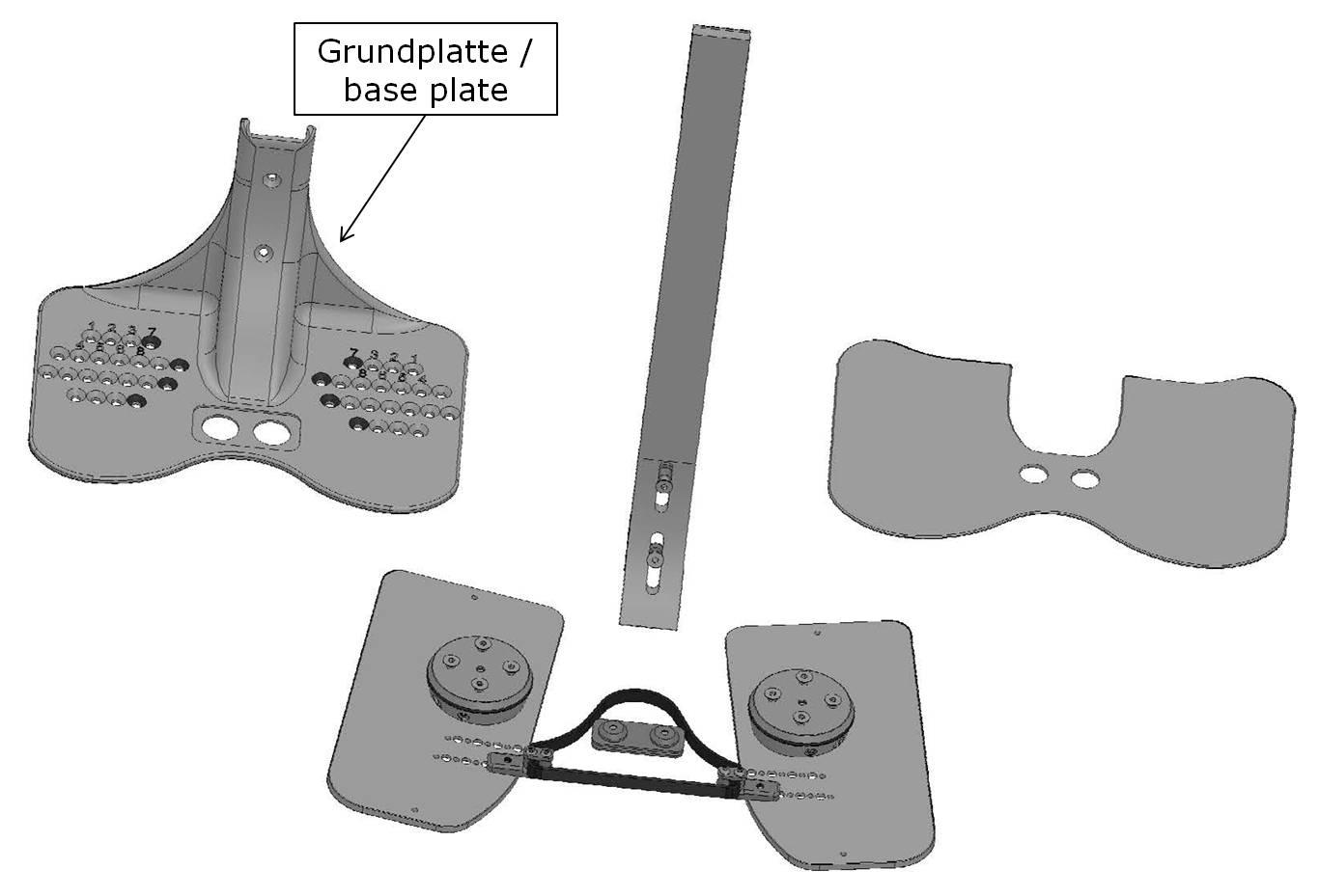 Grundplatte für den Go-LiTe