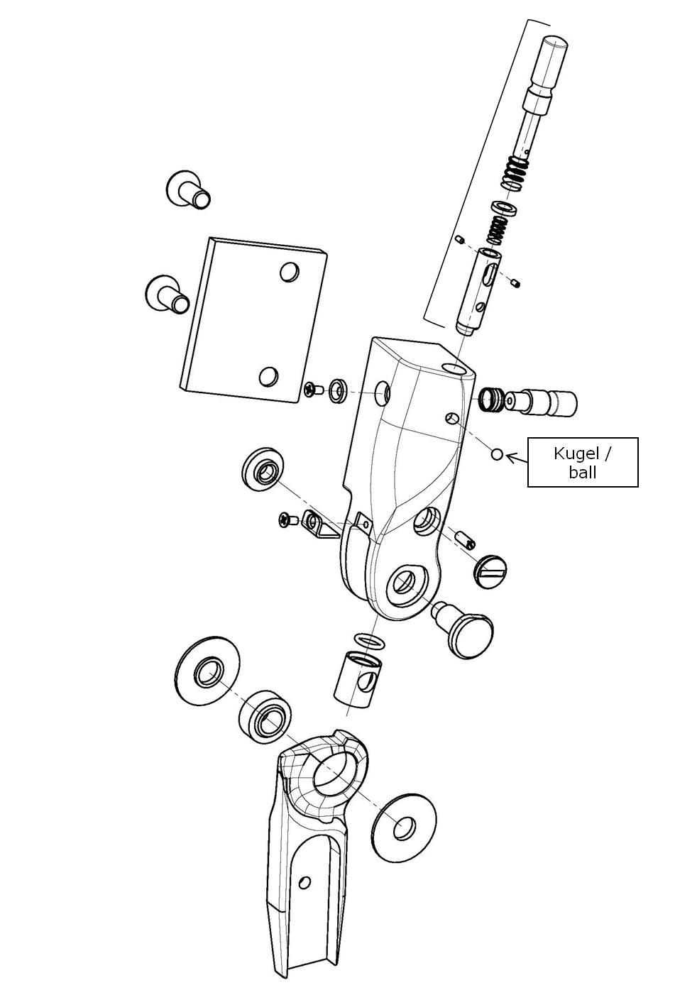 Kugel für das Salera preselect 3-D Hüftgelenk