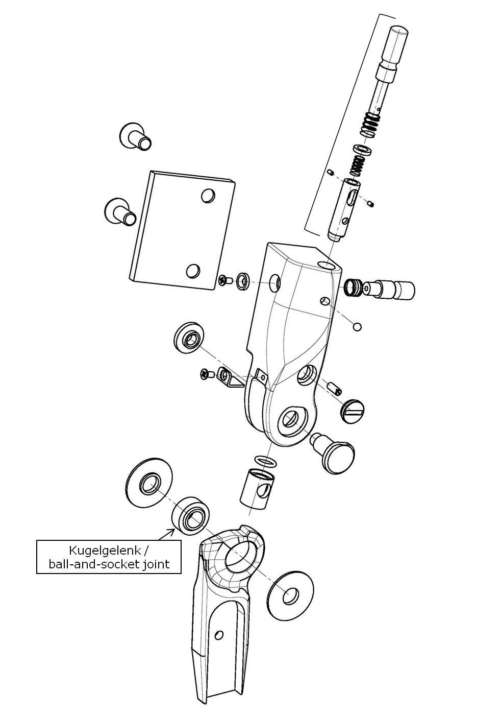 Kugelgelenk für das Salera preselect 3-D Hüftgelenk