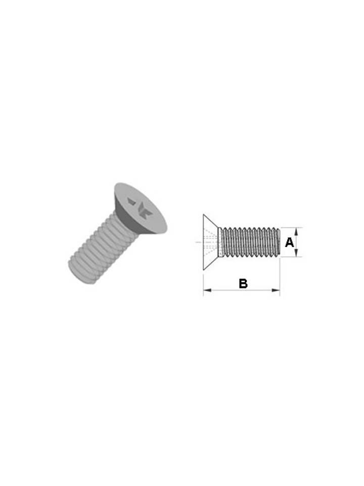 Senkkopfschraube zur Verlängerungsschiene für das Salera preselect 3-D Hüftgelenk