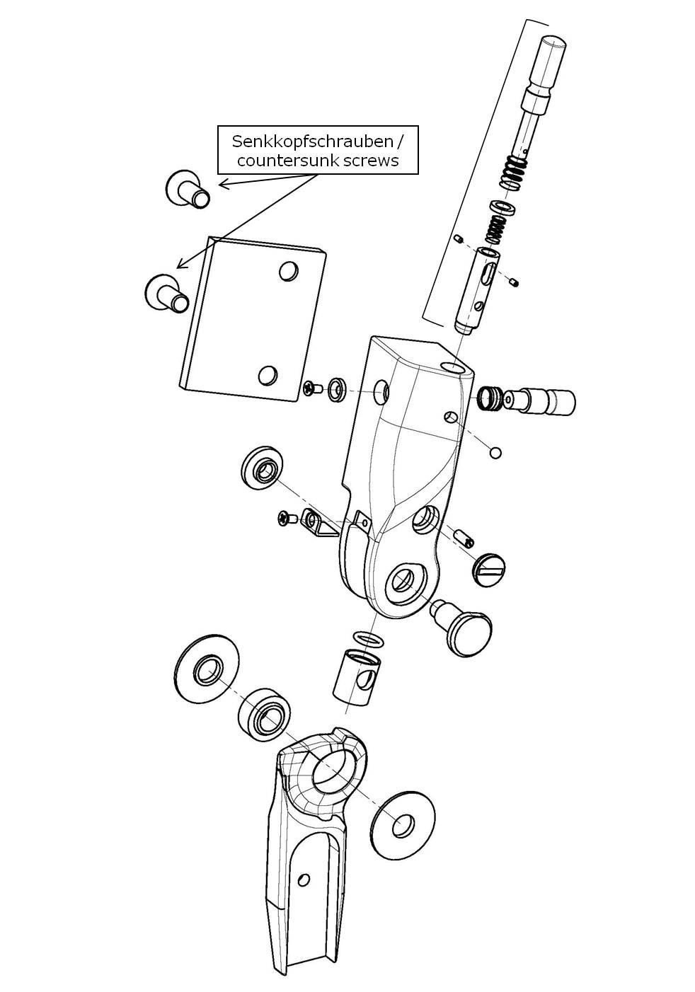 Schraube zur Anschlussplatte für das Salera preselect 3-D Hüftgelenk