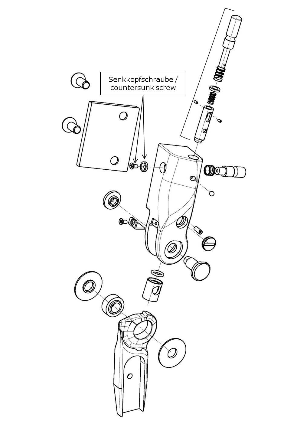 Senkkopfschraube incl. Einsatzring für das Salera preselect 3-D Hüftgelenk
