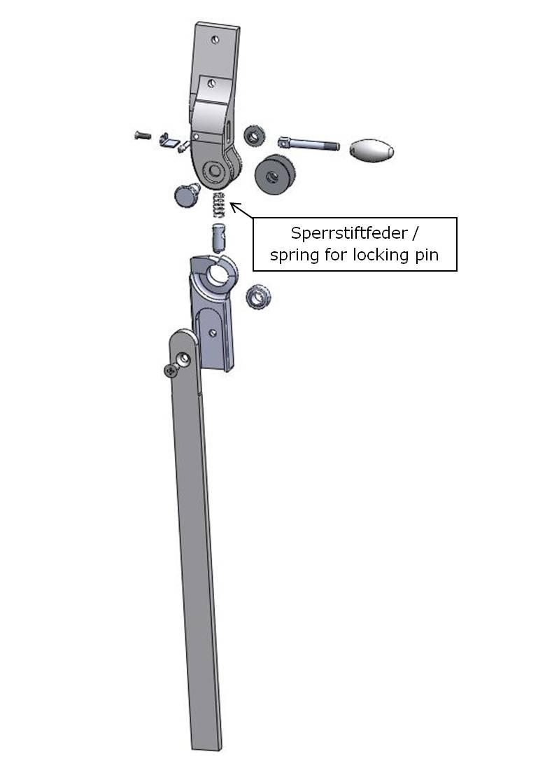 Sperrstiftfeder für Salera 3-D Hüftgelenk