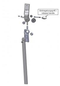 Entriegelungsgriff für das Salera 3-D Hüftgelenk
