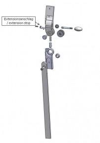 Extensionsanschlag für das 3-D Hüftgelenk