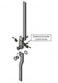Joint screw for the Spinter ankle joint