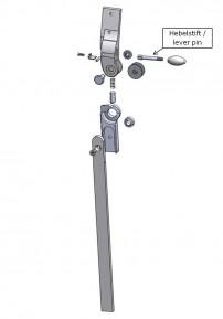 Hebelstift für das Salera 3-D Hüftgelenk