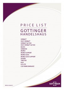 Pricelist (valid from April 1, 2017)