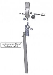 Verlängerungsschiene für das Salera 3-D Hüftgelenk