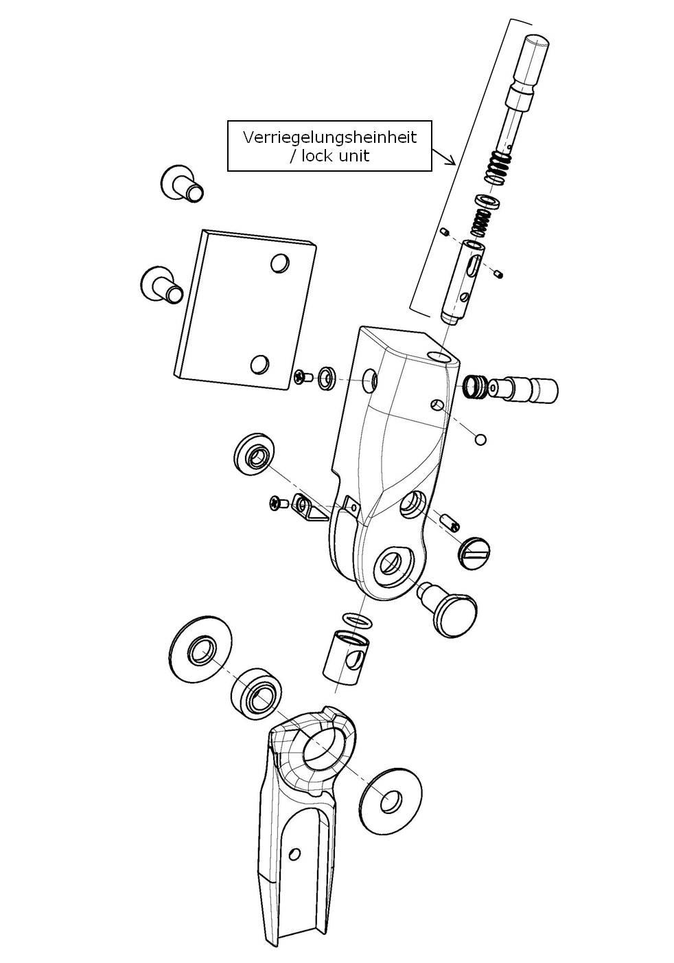 Verriegelungseinheit für das Salera preselect 3-D Hüftgelenk