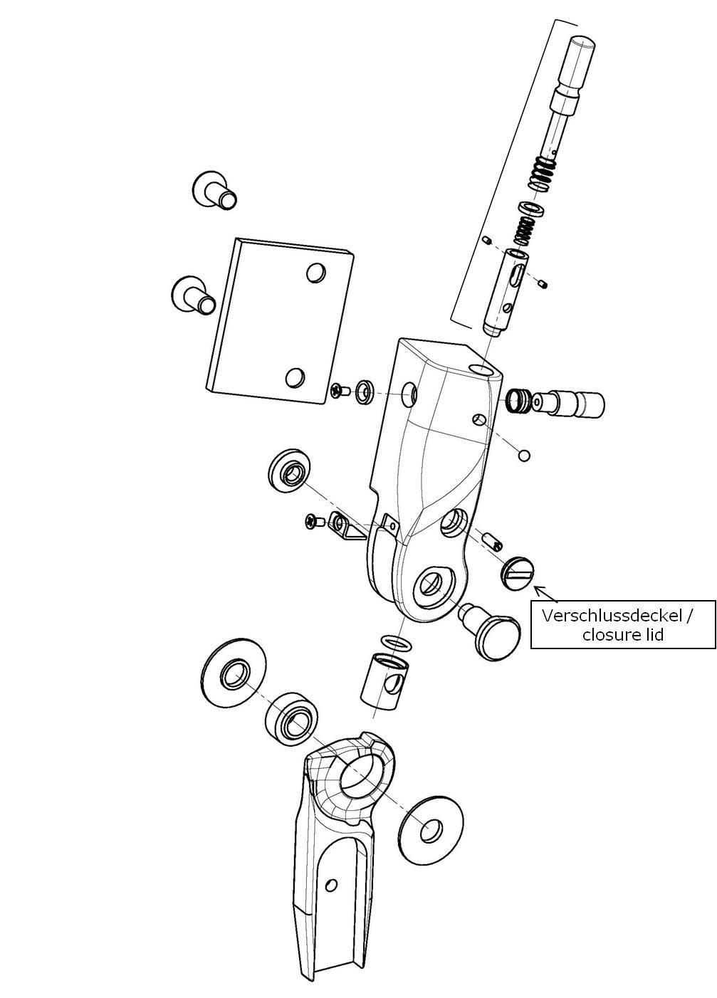 Verschlussdeckel für das Salera preselect 3-D Hüftgelenk